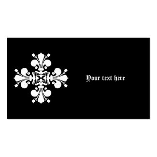 White elegant damask motif Double-Sided standard business cards (Pack of 100)