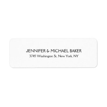 Professional Business White Elegant Minimalist Plain Modern Family Name Label
