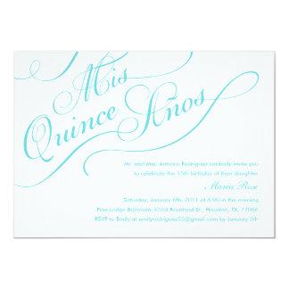 White Elegant Quinceanera Invitations