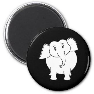 White Elephant. 2 Inch Round Magnet