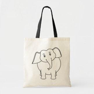 White Elephant. Tote Bags