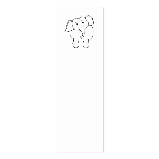 White Elephant. Business Card Template
