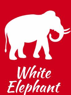 white elephant christmas gift exchange party invitation - Christmas White Elephant
