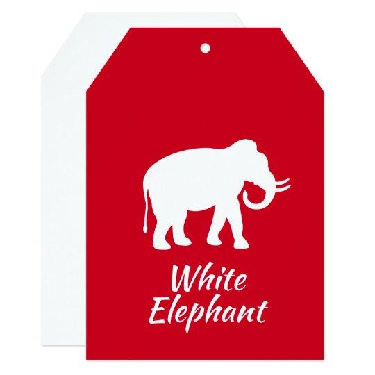 white elephant christmas gift exchange party invitation - White Elephant Christmas Party