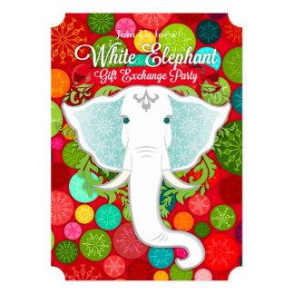 White Elephant Exchange Invitations & Announcements | Zazzle