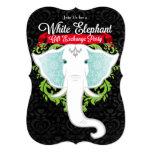 White Elephant Custom Holiday Party Invitations at Zazzle