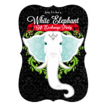 White Elephant Custom Holiday Party Invitations