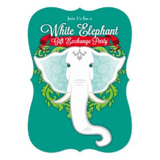 White Elephant Custom Holiday Party Invitations
