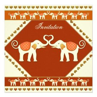 White Elephant Festive Wedding Invitation