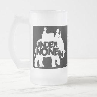 White Elephant Frosted Glass Mug