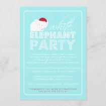 White Elephant Gift Exchange Holiday Party Invitation