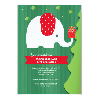 White Elephant Exchange Invitations & Announcements | Zazzle