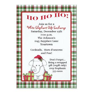 White Elephant Gift Exchange Personalized Invite