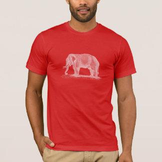 White Elephant Illustration - 1800s Elephants T-Shirt
