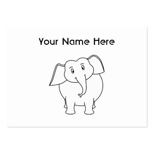 White Elephant. Large Business Cards (Pack Of 100)