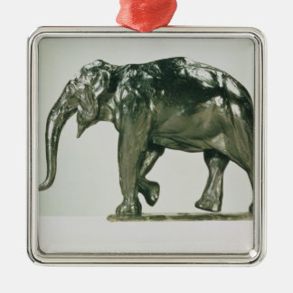 White Elephant Metal Ornament
