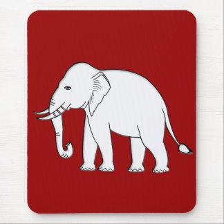 White Elephant Mouse Pad