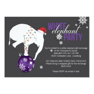 White Elephant Party Invitation | Purple/Gray