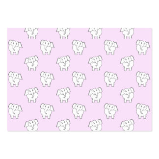 White Elephant Pattern on Pink. Business Card Templates