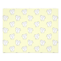 White Elephant Pattern on Yellow. Flyer
