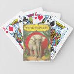 White Elephant Playing Cards