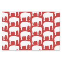 White Elephant Silhouettes Pattern Tissue Paper