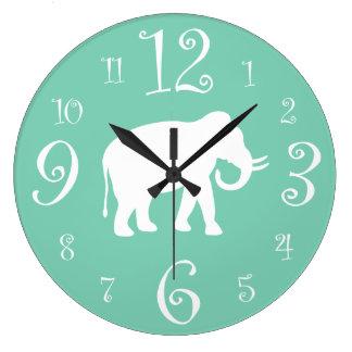White Elephant Stylish Retro 1950s Kitchen Large Clock