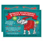 White Elephant Ugly Sweater Party Invitation at Zazzle