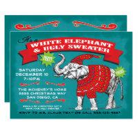 White Elephant Ugly Sweater Party Invitation