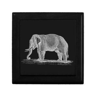 White Elephant Vintage 1800s Illustration Keepsake Box