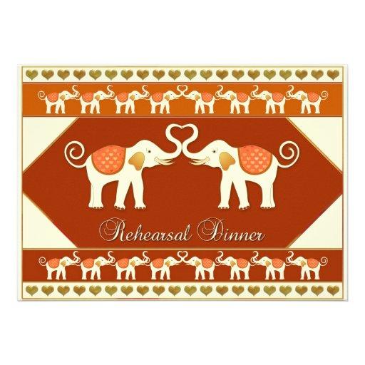 White Elephant Wedding Rehearsal Dinner Invitation