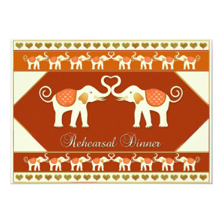 "White Elephant Wedding Rehearsal Dinner Invitation 5"" X 7"" Invitation Card"