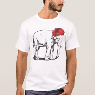 White Elephant with Red Turban t-shirt