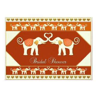 "White Elephants Bridal Shower Invitation 5"" X 7"" Invitation Card"