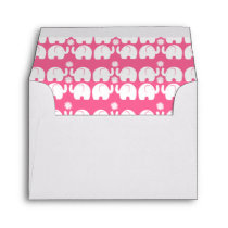 White Elephants with Daisy over Pink Envelope