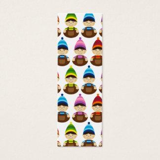 White Elf Repeat Bookmark Mini Business Card