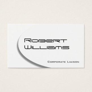 White Ellipse Modern Professional Business Card