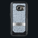 "White Encrusted Diamonds Glitter OtterBox Samsung Galaxy S7 Case<br><div class=""desc"">Monogrammed white encrusted diamond glitter pattern. Customizable otterbox commuter Samsung Galaxy S7 case template</div>"