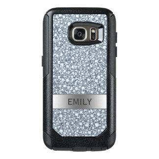 White Encrusted Diamonds Glitter OtterBox Samsung Galaxy S7 Case