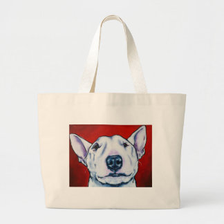 White English Bull Terrier Jumbo Tote Bag