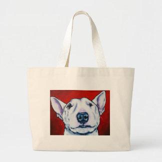 White English Bull Terrier Large Tote Bag