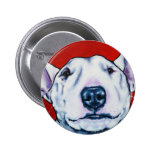 White English Bull Terrier Pinback Buttons