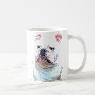 White English Bulldog 2 mug