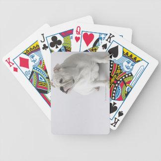 White English Bulldog Bicycle Playing Cards
