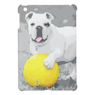 White English Bulldog Portrait With Ball Cover For The iPad Mini