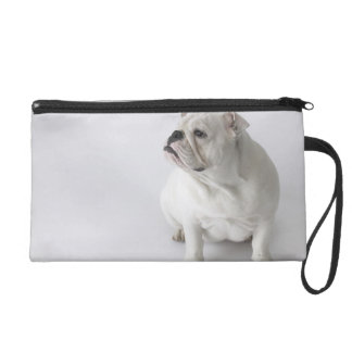 White English Bulldog Wristlet Purse
