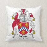 White (English) Throw Pillows