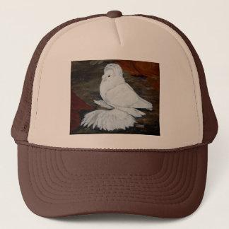 White English Trumpeter Trucker Hat