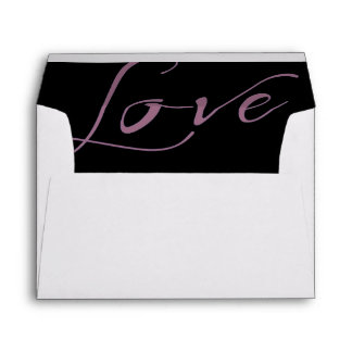 White Envelope Amethyst Purple Love Liner