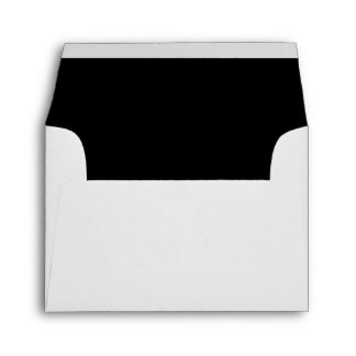 White Envelope, Black Liner RSVP Envelope